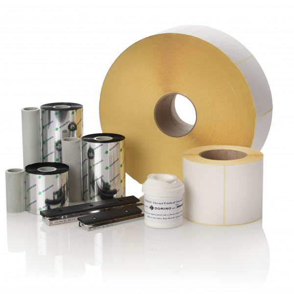 Labels, ink, thermal ribbon and print heads